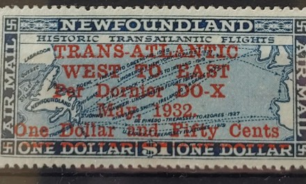 Newfoundland #C12 F/VF Mint HR 1932 $1.50 on $1 Airmail