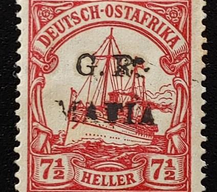 German East Africa #NL11 Mint 1915 7.5h spot of gum loss