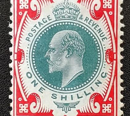 G.B. #138 Fine Mint Edward VII Shilling