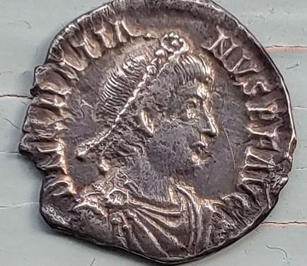Gratian 367-383 AD 2gm Silver Siliqua w/ Roma etc