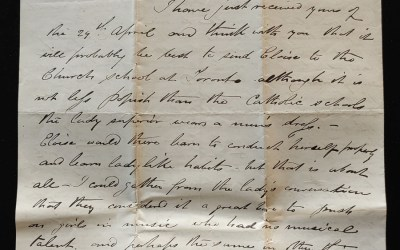 Victoria, B.C. 24 May 1874 Marcus Smith Letter to his wife, faults