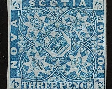 Nova Scotia #2 1851 3d Blue