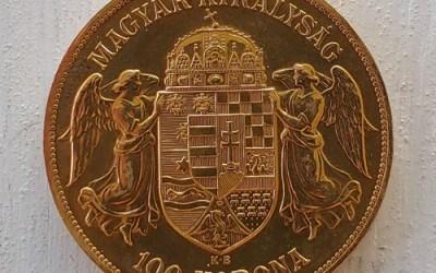 Hungary Unc 1908 K.B. Franz Joseph Gold 100 Korona .9802 oz AGW