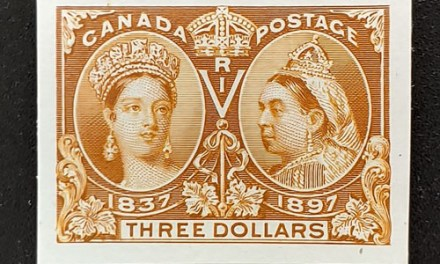 Canada #63P VF 1897 $3 Jubilee Plate Proof on card