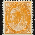 Canada #82 F/VF Never Hinged 1898 8c QV Numeral
