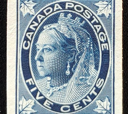 Canada #70P VF 1897 5c Queen Victoria Leaf Plate Proof