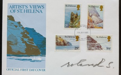 St. Helena #382-385 14 Ja 1983 Artist and Governor-signed FDC