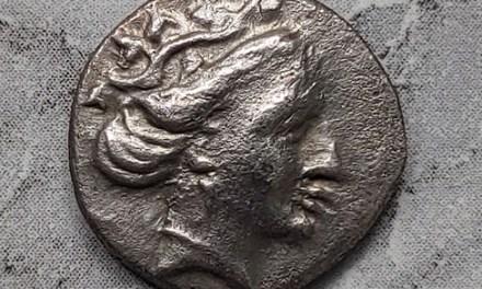 Greek, Euboia Histiaia 3rd Century BC 2.29gm AR Tetrobol