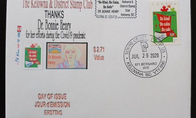 Canada 29 Jl 2020 $2.71 Bonnie Henry Airmail FDC #157