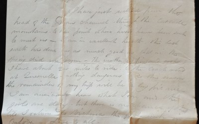 C.P.R. Survey Western Division 7 Se 1875 Marcus Smith letter home