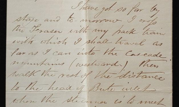 C.P.R. Survey Western Division 22 Jn 1875 Soda Creek Smith Letter
