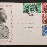 G.B. #226-229 7 May 1935 cacheted typed Address FDC to U.S.