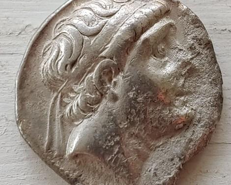 Antiochus III 222-187 BC 16gm Greek Syria Silver Tetradrachm chin mk