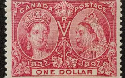 Canada #61 F/VF Mint HR 1897 $1 Jubilee