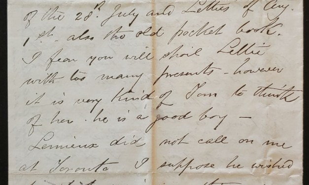 Prince Arthur's Landing Lake Superior 8 Aug 1878 Marcus Smith letter