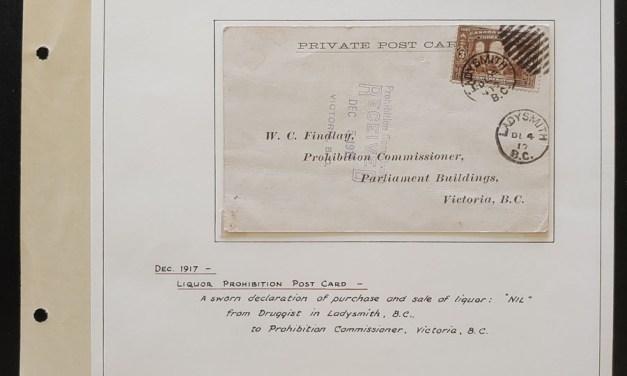 Ladysmith, B.C. 4 De 1917 3c Liquor Prohibition Post Card ex Wellburn