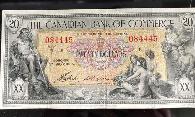 Canadian Bank of Commerce Fine+ 1935 $20 Banknote