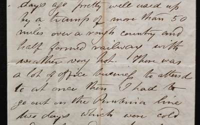 """C.P.R. Manitoba District Engineer's Office 7 Sep 1878 Marcus Smith letter """"My dear wife.."""""""