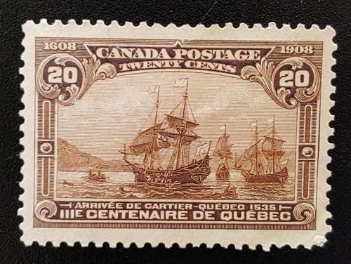 Canada #103 XF Unused 1908 20c Quebec Tercentenary