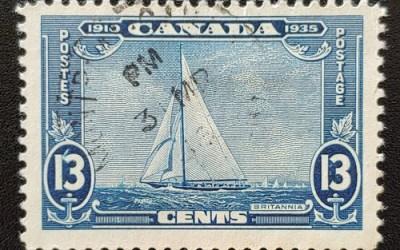 Canada #216i Fine CDS Used 13c Shilling Mark Variety, ex Penko