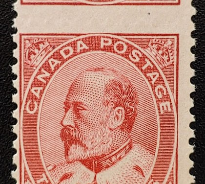 Canada #90 Never Hinged 1903 2c Dramatic Misperf ex Penko