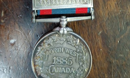 North West Canada 1885 Silver Riel Rebellion Medal with Saskatchewan Bar