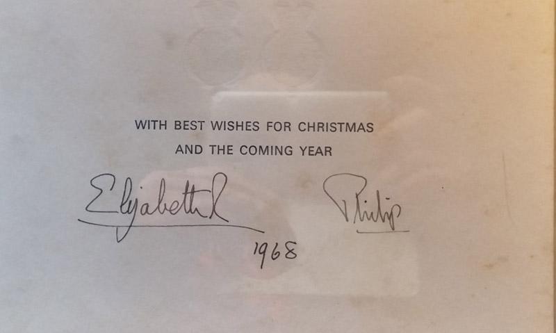 Signed Elizabeth R Philip 1968