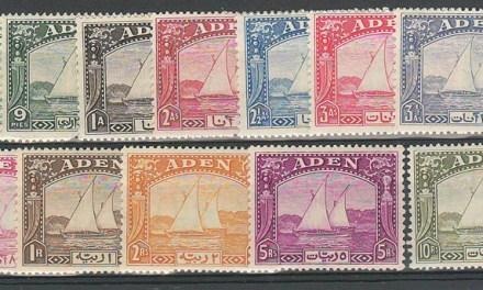 Aden #1-12 1937 Dhow Set