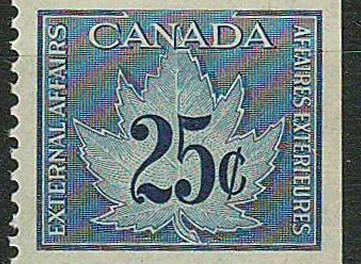 Canada #FCF1 VFNH 1949/71 25c Consular Fee