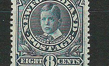 Newfoundland #110a 1911 8c Peacock Blue Shade