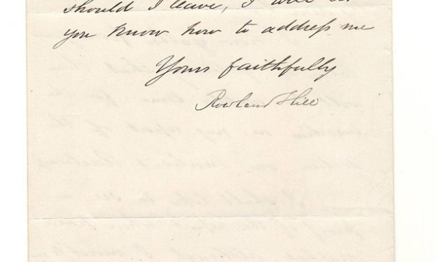 Sir Rowland Hill 20 Apr 1867 signed Letter