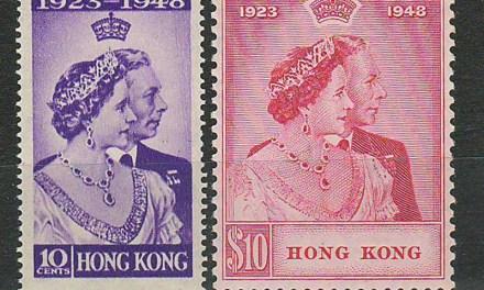 Hong Kong #178-179 1948 Geo VI Silver Wedding Set