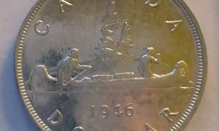 Canada BU 1946 Voyageur Silver Dollar