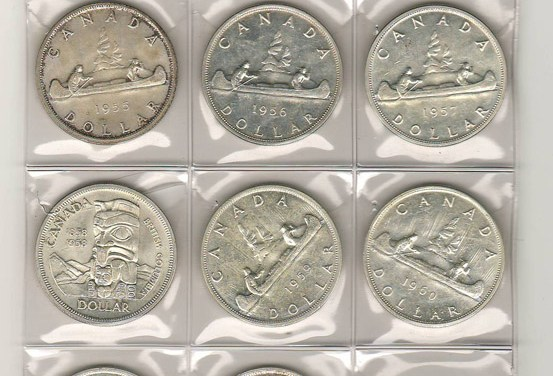 Canada AU/Unc 1952-1962 Dollars $290 (11 different)