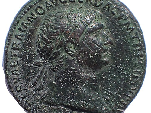 Trajan 98-117 AD AE Sestertius w/ Dacian