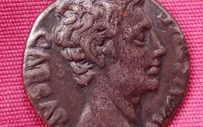Augustus 27BC-14AD Silver Denarius w/ Mars