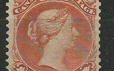 Canada #22 1868 1c Large Queen