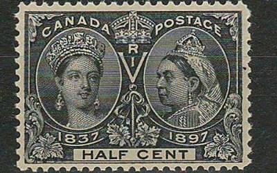 Canada #50 1897 1/2c Jubilee