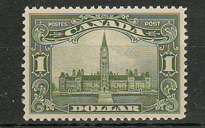 Canada #159 1929 $1 Parliament selected for centering