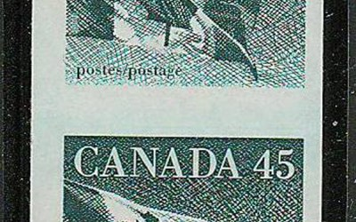 Canada #1396a VFNH 1995 45c Flag Imperforate Coil Pair