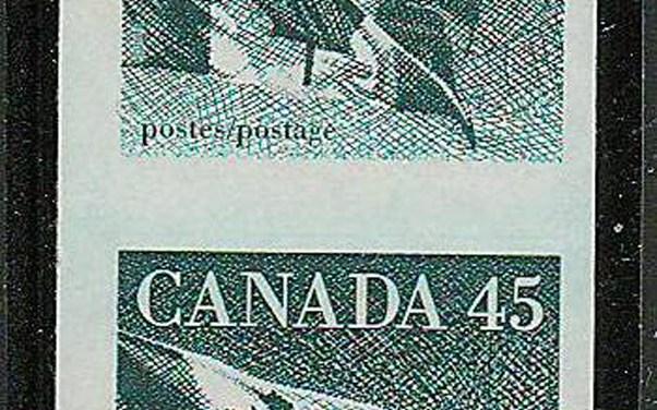Canada #1396a VFNH 1995 45c Flag Imperforate Coil Pair