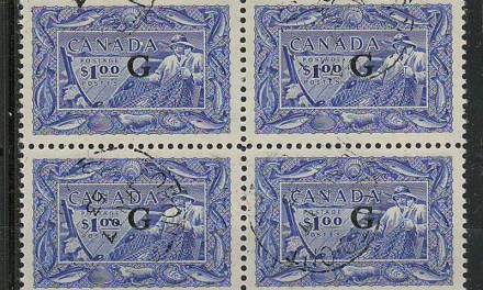 Canada #O27 1953 G Overprint $1 Fisheries Block
