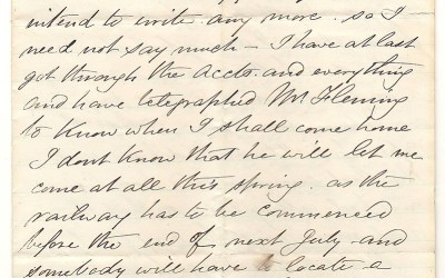 Victoria, B.C. 11 March 1873 Marcus Smith 4 sides letter to his wife