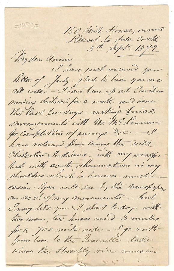 handwritten letter page 1