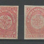 Newfoundland #22i-23i 1860/61 Watermarked duo 1/-