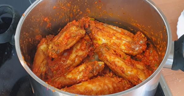peppered turkey wings