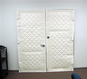 Immediately The Noise Was Quieted And A Healthy, Productive Level Of Quiet  Spread Through The Facility. Our Quilted Fiberglass Door Blankets Steadily  ...