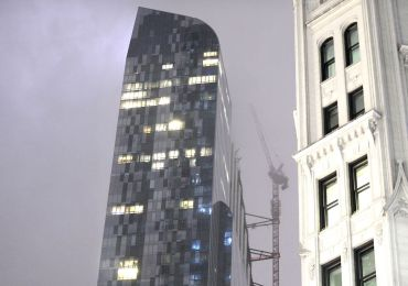 Debris plunges from Midtown NYC skyscraper after unstable crane spins around in remnants of Hurricane Zeta winds