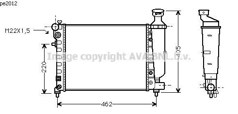 Radiateur d'eau pour PEUGEOT 106 (1) DE 09/1991 A 03/1996