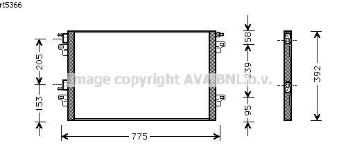 Radiateur de climatisation pour RENAULT LAGUNA (2) DE 01